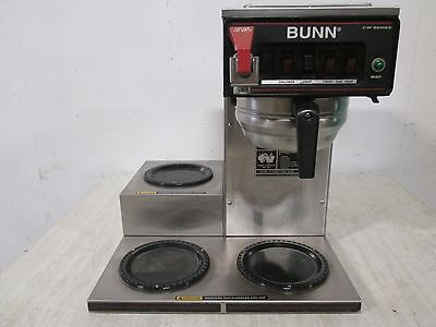 """BUNN CWT 15"" HD COMMERCIAL (NSF) ""POUR-OVER/AUTOMATIC"" COFFEE BREWER w/3 WARMER"
