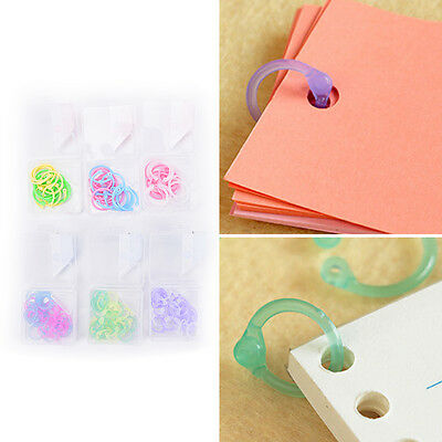 1Box Plastic Ring Binder for Spiral Notebook Diary Loose Leaf Book Binding DIY T