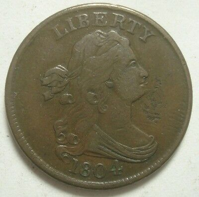 1804 Spiked Chin Draped Bust Half Cent