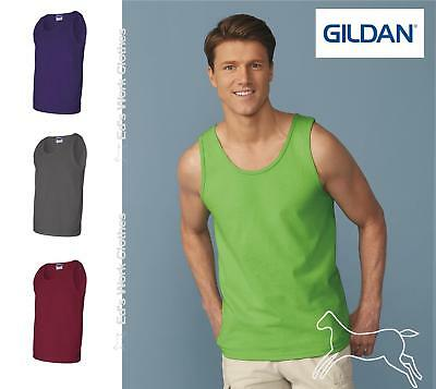 Gildan Mens Workout Sleeveless Ultra Cotton Tank Top 2200 Up to 3XL Many Colors