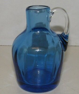 "Pilgrim Mini Pitcher Window Sill Art Glass 3 7/8"" Jug with Handle"