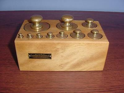 Braun Knecht Heimann Brass Scale Weights Set