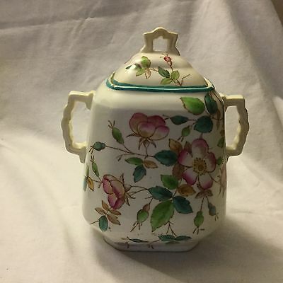 ANTIQUE 19th Century PEARLWARE  JAM POT    *  GORGEOUS