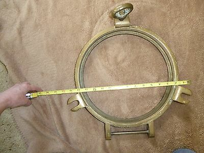 Vintage Large Solid Brass New Jersey Ship's Porthole Nautical / Maritime