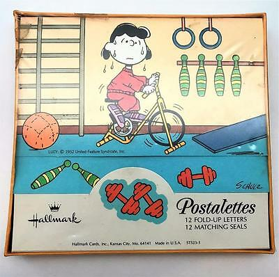 Vintage Hallmark Betsy Clark Peanut Postalettes ~ New in Box ~ Lucy's Workout