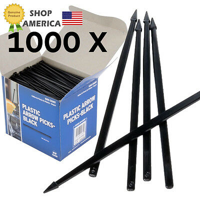 CASE of 1000 Black Toothpicks Arrow for Steel Mini Crossbow Shooting Toy 1,000pc