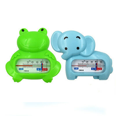 Baby Safety Bath Thermometer Green Frog Waterproof Blue Elephant Thermometer New