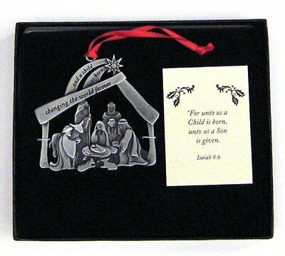 Nativity Christmas Ornament And a Child Was Born Changing the World Forever New