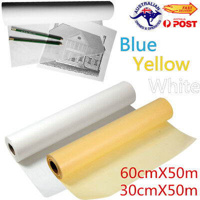 50M Super Transparent Sketch Tracing Paper Roll Artist Copy Drafting Acid Paper