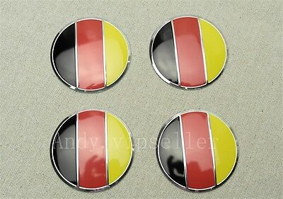 4Pcs Bes German flag Logo Aluminum Alloy Car Wheel Center Caps Sticker Emblems
