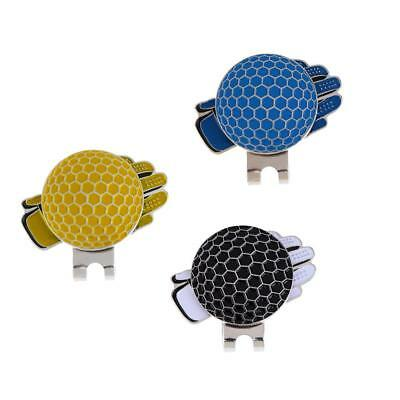 Portable Mini Stainless Steel Glove Magnetic Golf Hat Clip with Ball Marker