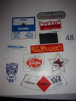 #48  Oil field Stickers Mudd Hardhat stickers vintage  70's 80's
