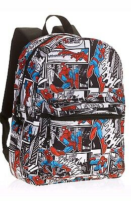 Spider-Man Movie Comic Backpack Book Bag Marvel 2017 ~ 16'' Full Size NWT