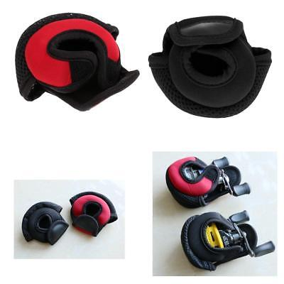 2Pcs Fishing Baitasting Reel Cover Pouch Glove Protective Case Black&Red