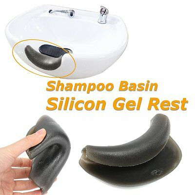 Hairdressing Back Wash Shampoo Basin Silicon Gel Rest Salon Hair Barber 13x9x3cm