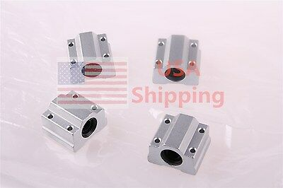 4Pcs SC8UU SCS8UU Linear Ball Bearing Motion CNC Slide Bushing Block New