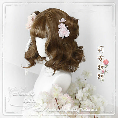 Japanese Anime Girl Harajuku Wig Hair Curly Hair Lolita Fashion Mix