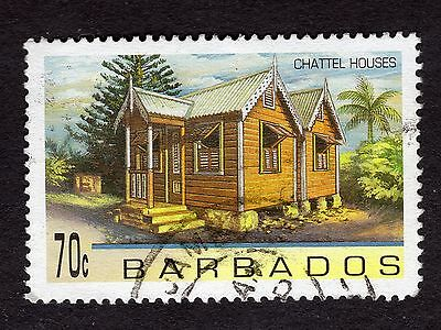 1996 Barbados 70c Chattel Houses SG1094 GOOD USED R32895