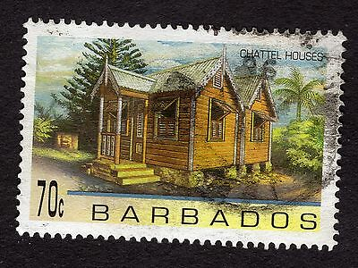1996 Barbados 70c Chattel Houses SG1094 FINE USED R32894