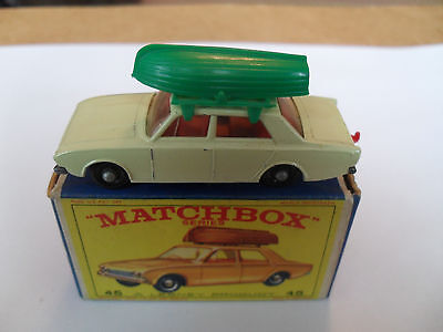 MATCHBOX LESNEY RW 1-75 No 45 FORD CORSAIR+BOAT VN MINT IN NEAR EXCELLENT BOX