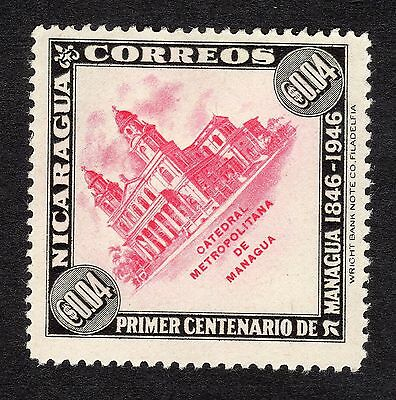 1947 Nicaragua 4c Managua Cathedral SG 1085 MOUNTED MINT R19804