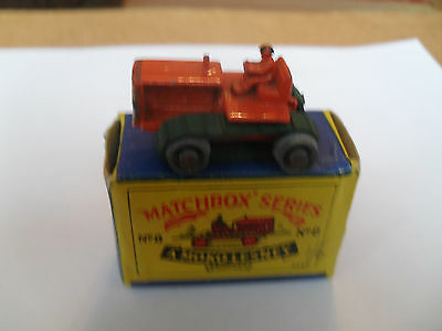 RARE MATCHBOX LESNEY RW 1-75 No8 CATERPILLAR TRACTOR EXCELLENT+ IN V GOOD BOX