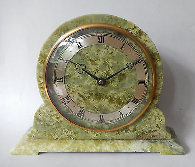 Elliott  Green Onyx Mantel Clock Fully working 2701