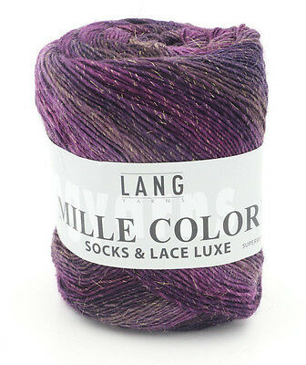 One Skein of Lang Yarns Mille Colori Socks & Lace Luxe