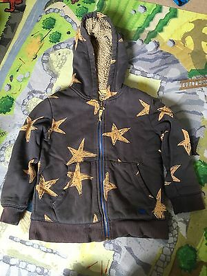 Mini Boden Boys Fleece Lined Hoodie Top zip Jacket