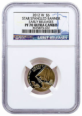 2012-W Star Spangled Banner $5 Gold Commemorative NGC PF70 UC ER SKU25424