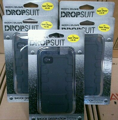NEW LOT OF 5 body glove DropSuit Cell phone case for Apple iPhone 4/4s