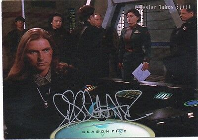 BABYLON 5 personally signed card  - ROBIN A DOWNES who played Byron
