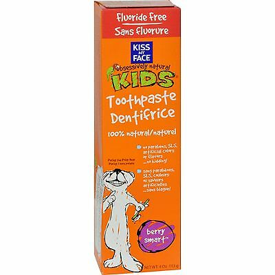 Kiss My Face Kids Toothpaste Fluoride Free Berry Smart - 4 oz-0456822