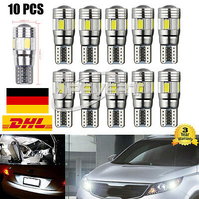 10x T10 6 SMD 5630 CREE LED Xenon w5w 168 192 Canbus Standlicht Weiß Beleuchtung