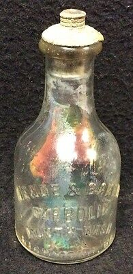 Rare Antique Meade & Baker Carbolic Mouth Wash Embossed Glass Bottle Richmond Va