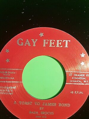 Gayfeet Records A Toast To James Bond / Love Divine Baba Brooks