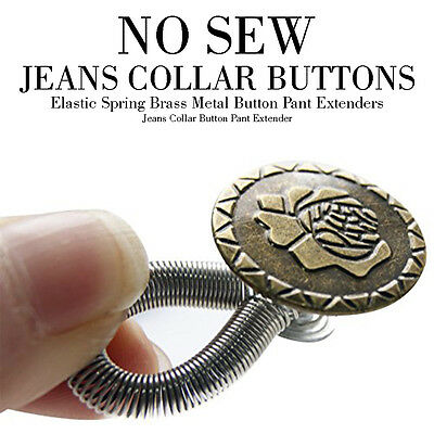 No Sew Jeans Studs Buttons In Metal With Spring Hammer On Type Tack Denim Fit