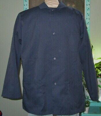 "Best Medical Unisex Staff Lab Jacket Coat 3 Pocket 29"" Length Navy Size L & XL"