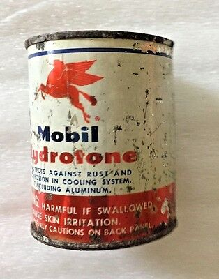 Vintage Mobil Hydrotone Can Mobil Oil Company Usa Advertising Collectible Auto