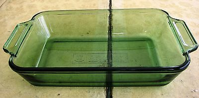 "Anchor Hocking Ovenware 6"" x 9"" 1 QT. Green Glass Baking Dish"
