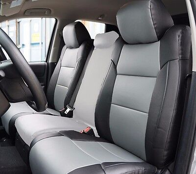 TOYOTA TACOMA SPORT TRD 09-15 GREY S.LEATHER CUSTOM MADE FIT FRONT SEAT COVER