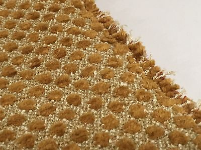 Jane Shelton Luxury Velvet Dot Upholstery Fabric- Chelsea Caramel 7.65 yd 4603-3