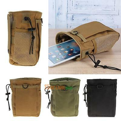 Outdoor Tactical Military Molle Pouch Drawstring Magazine Mag Ammo Dump Drop Bag