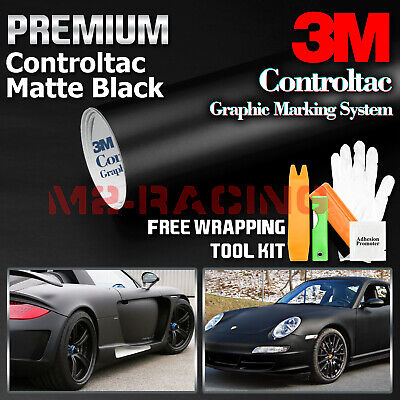 *Genuine 3M Matte Black Vinyl Wrap Car Sticker Film Decal Bubble Free