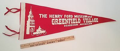 HENRY FORD MUSEUM GREENFIELD VILLAGE PENNANT DEARBORN MICHIGAN 1950's-1960's