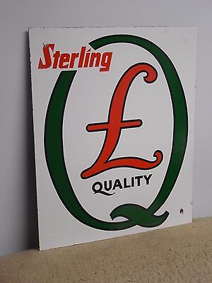 Original Quaker State Sterling Porcelain Gas Pump Plate Sign