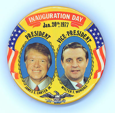 "*  Impressive  ~  "" INAUGURATION DAY / JAN. 20th 1977 ""  ~  Souvenir Button"