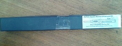 """Hollow square mortice chisel and bit 1/4"""""""