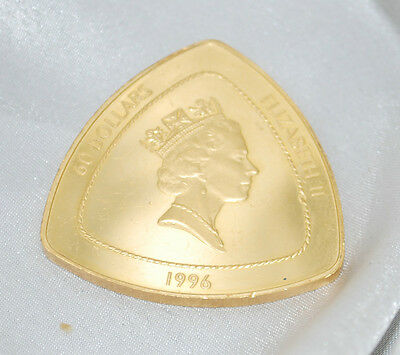 1996 Bermuda Triangular $60 Sixty Dollar Gold Coin