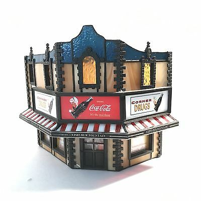 Rare 1997 Coca-Cola Stain Glass Drug Store Building Forma Vitrum Numbered